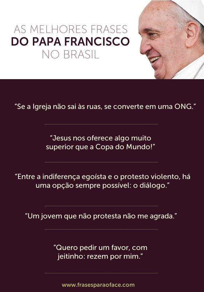 Frases do Papa Francisco no Brasil