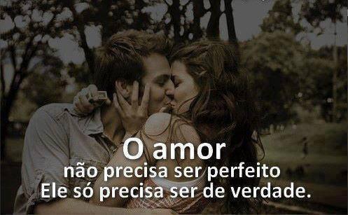O amor não precisa ser perfeito
