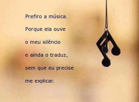 Prefiro a música