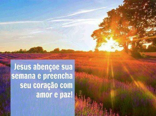 Jesus abençoe sua semana