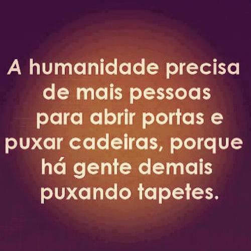 A humanidade precisa