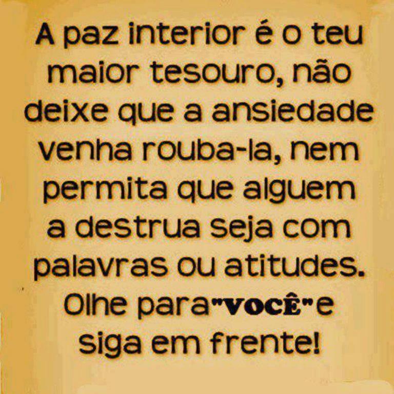 Amado A paz interior - Frase para Facebook XO16