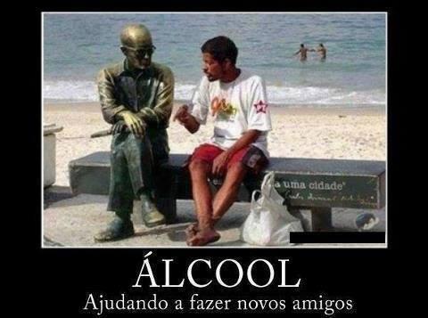 Álcool ajudando