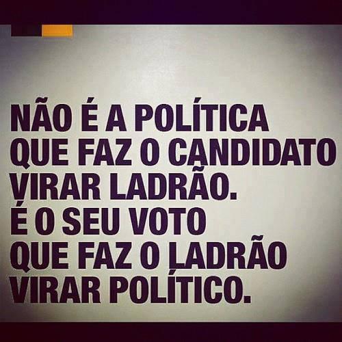 Não é a política