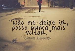 Não me deixe ir