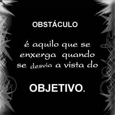 Obstáculo é aquilo