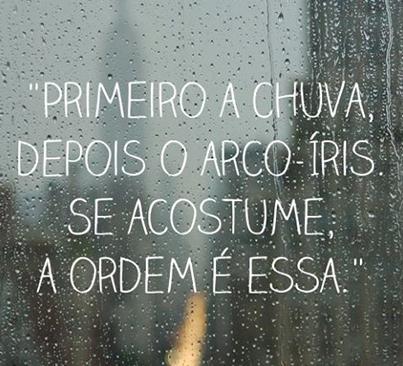 Primeiro a chuva