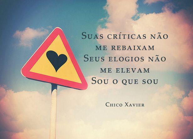 Suas críticas não