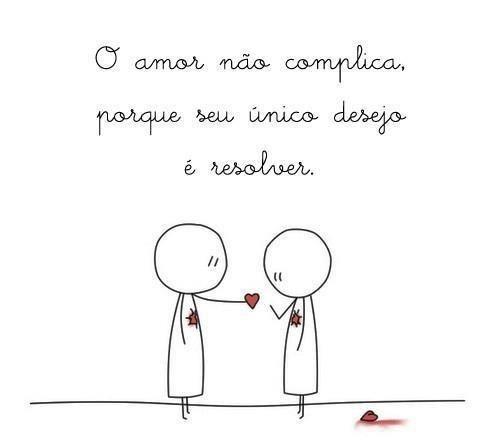 O amor não complica
