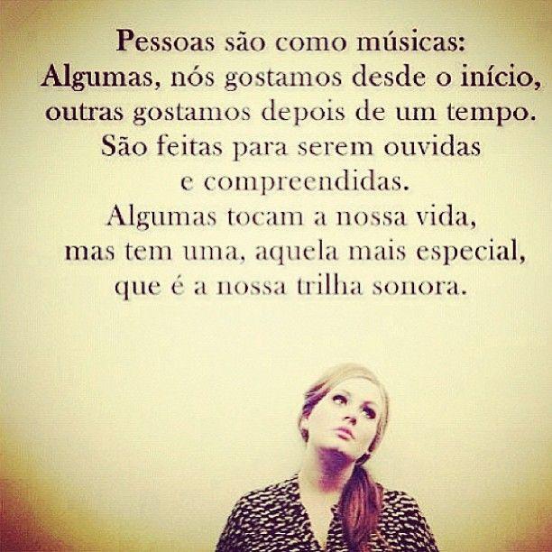 Pessoas são como músicas