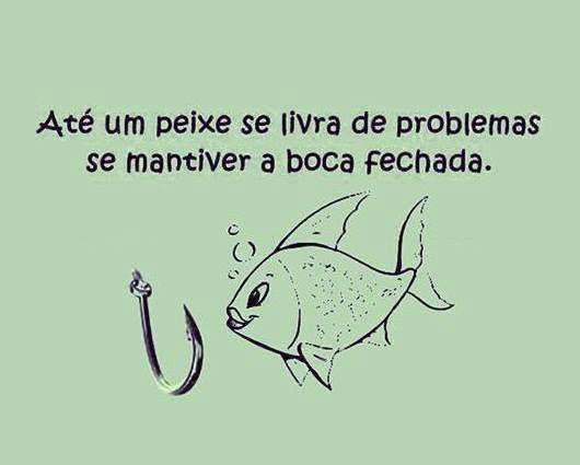 Até um peixe