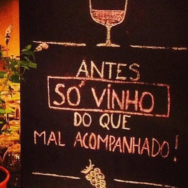 Favoritos Antes só vinho - Frase para Facebook SF29