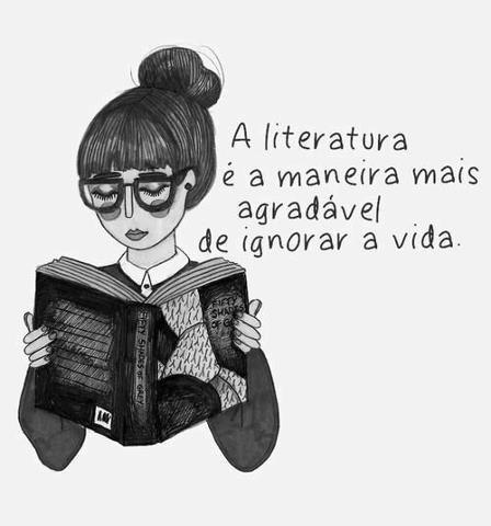 A literatura é a maneira mais