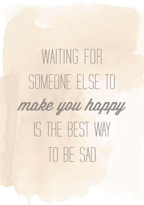 Waiting for someone else