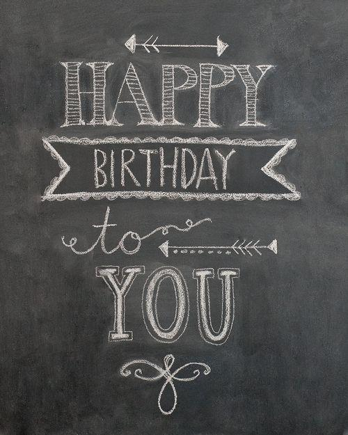 Birthday to you