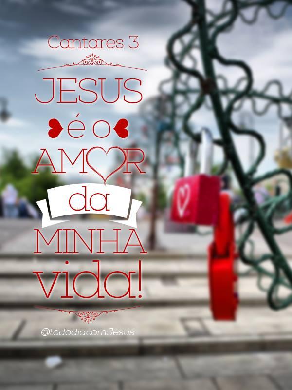 Jesus é O Amor Da Frase Para Facebook