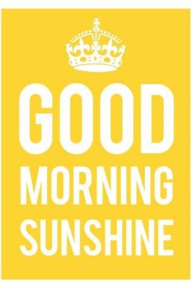 Good Morning Sunshine Rap : Frases curtas para facebook página de