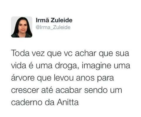 Caderno Da Anitta Frase Para Facebook