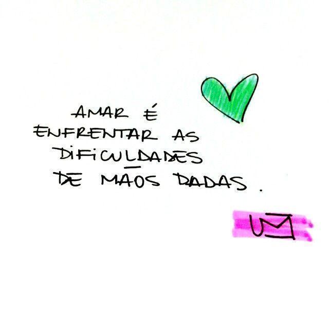 Amar é enfrentar as dificuldades