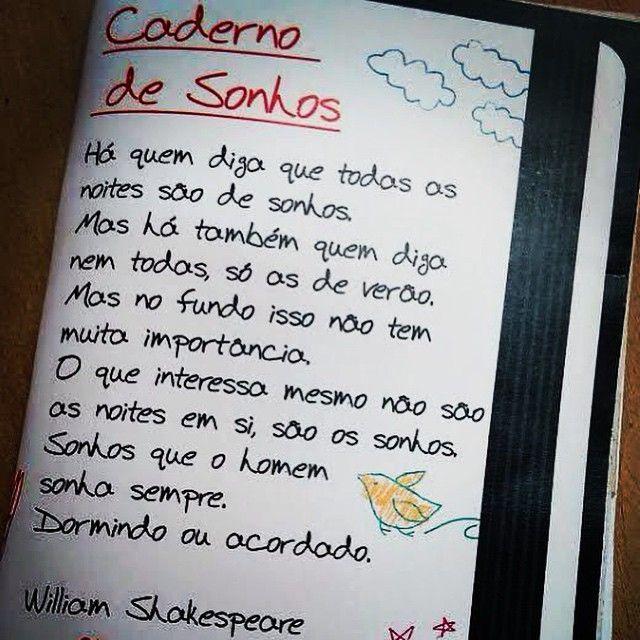 Caderno De Sonhos Frase Para Facebook