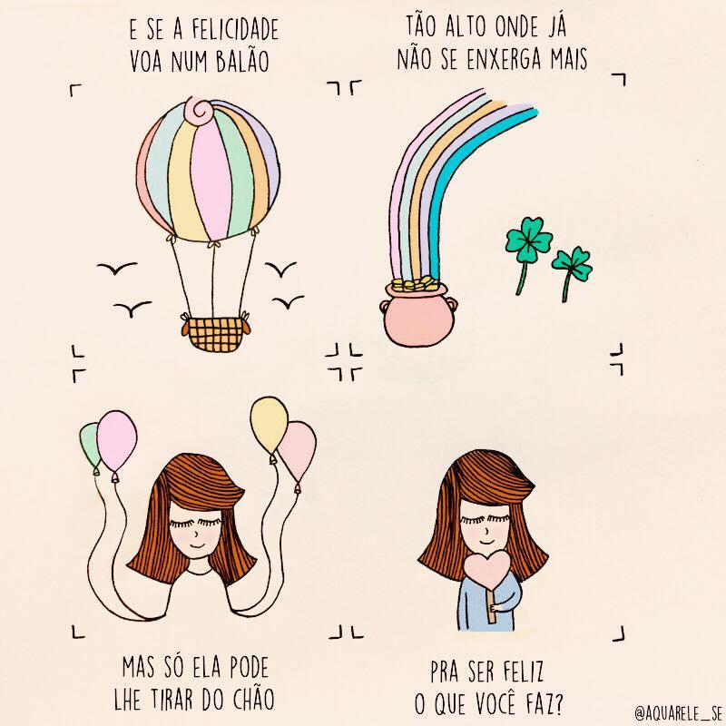 E se a felicidade voa num balão