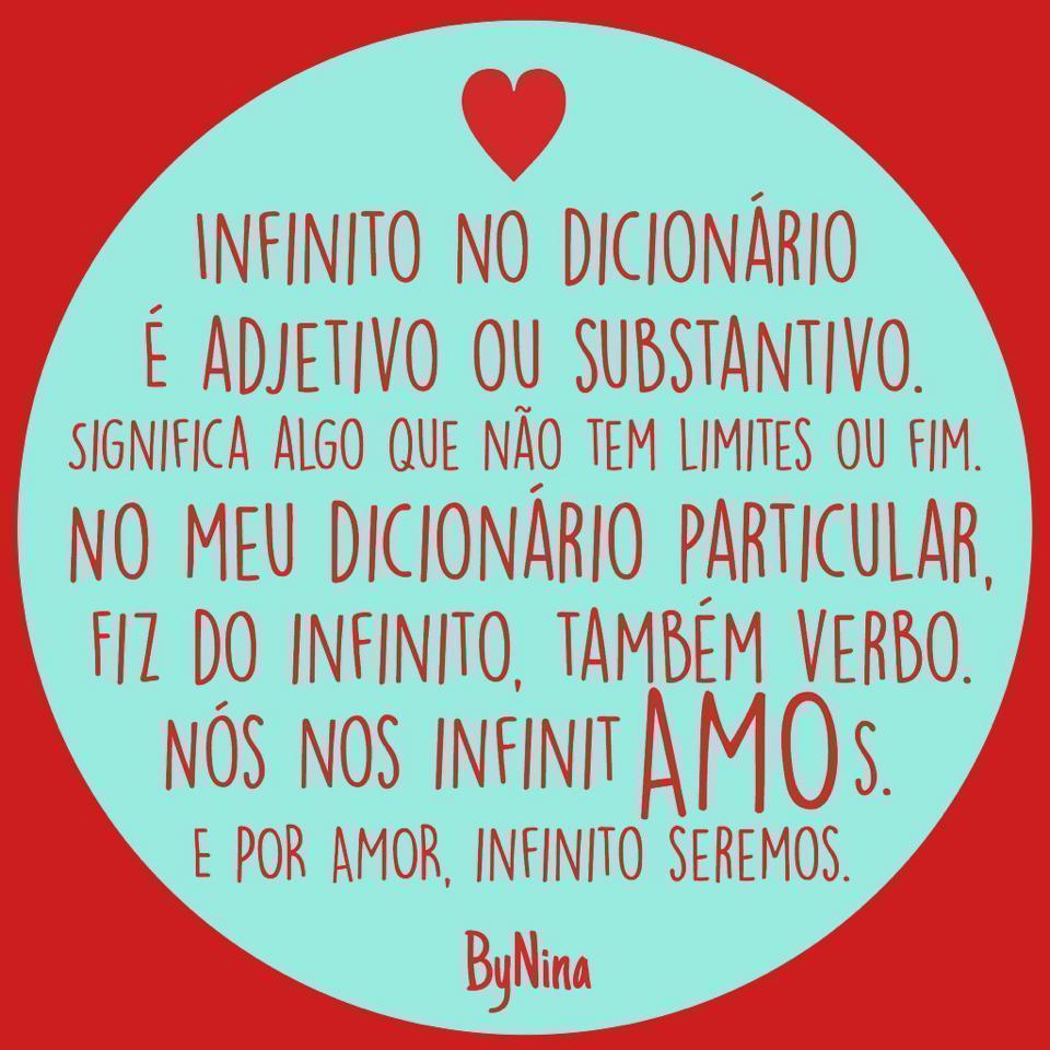 Infinito No Dicionario Frase Para Facebook