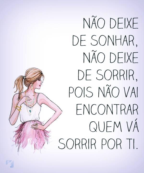 Não deixe de sonhar