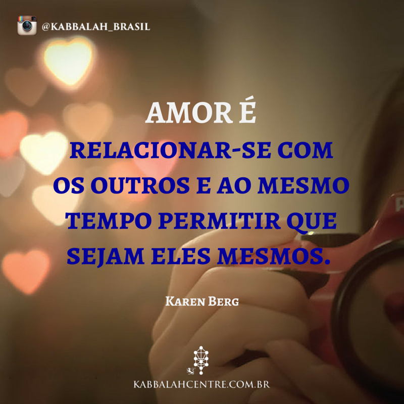 Amor é relacionar-se com os outros