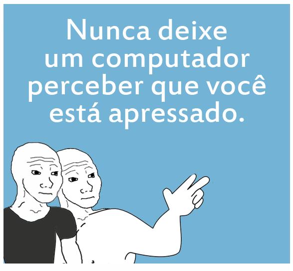 Nunca deixe um computador