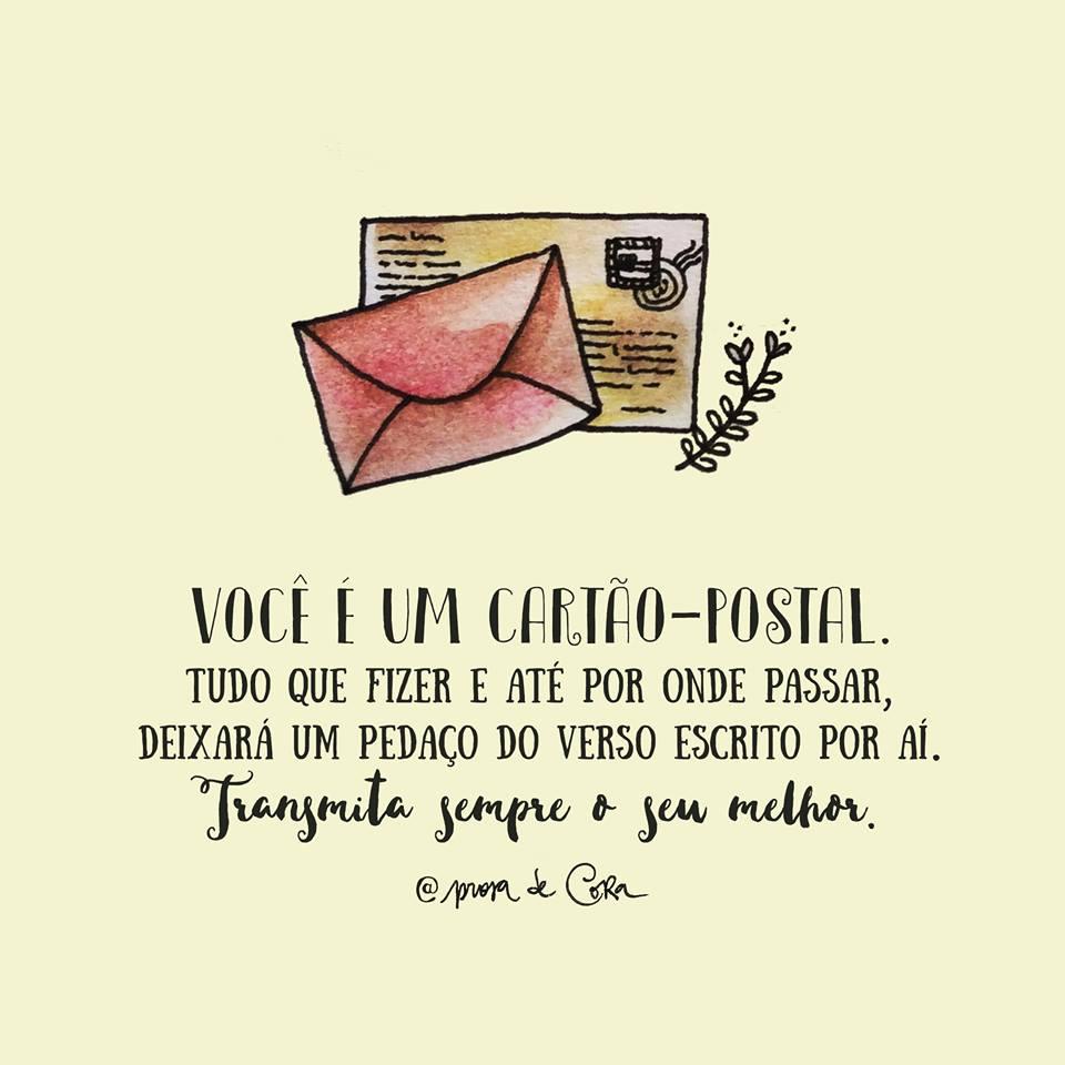 Você é Um Cartão Postal Frase Para Facebook