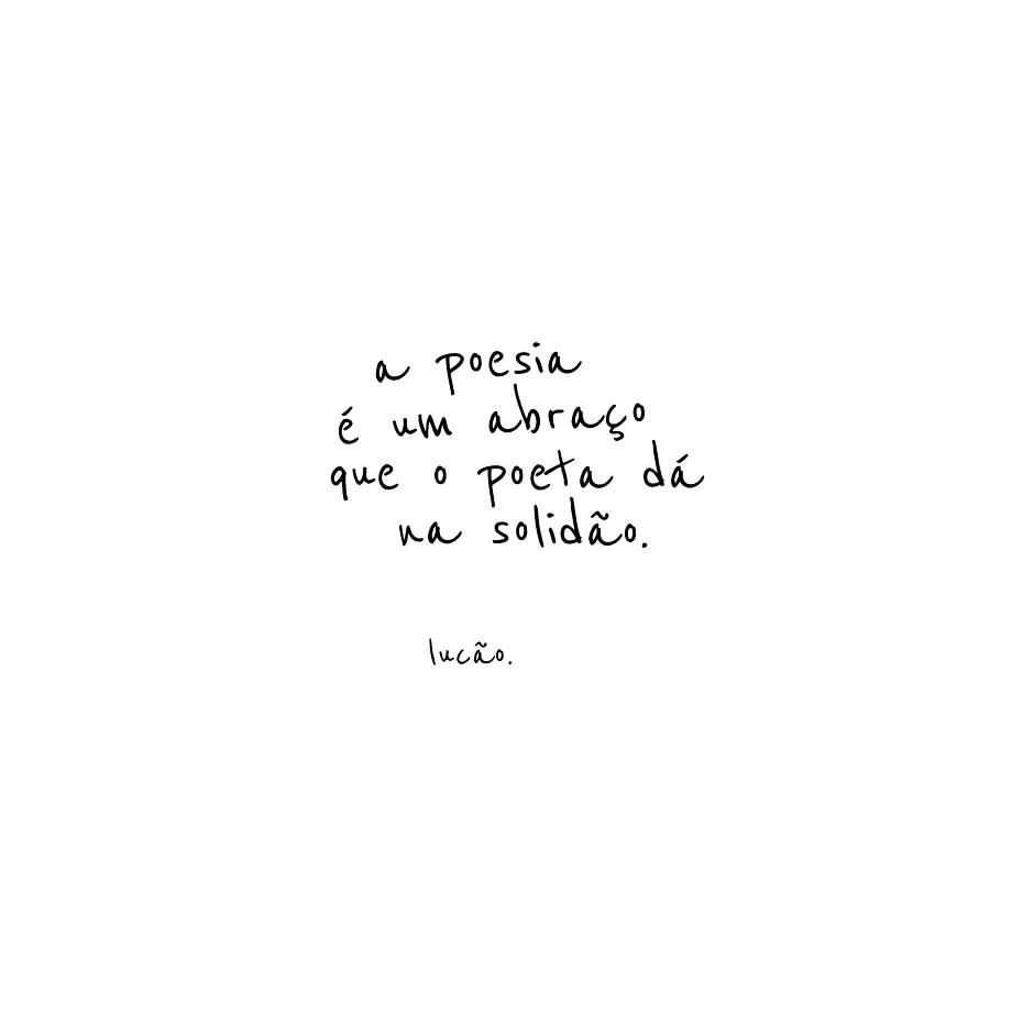 A poesia é um abraço