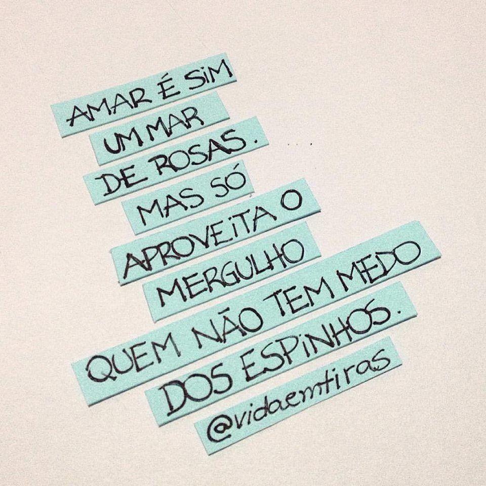 Amar é sim um mar de rosas