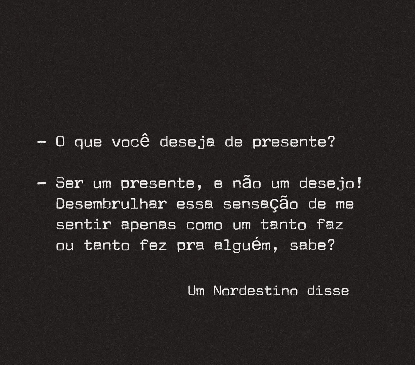 Deseja de presente