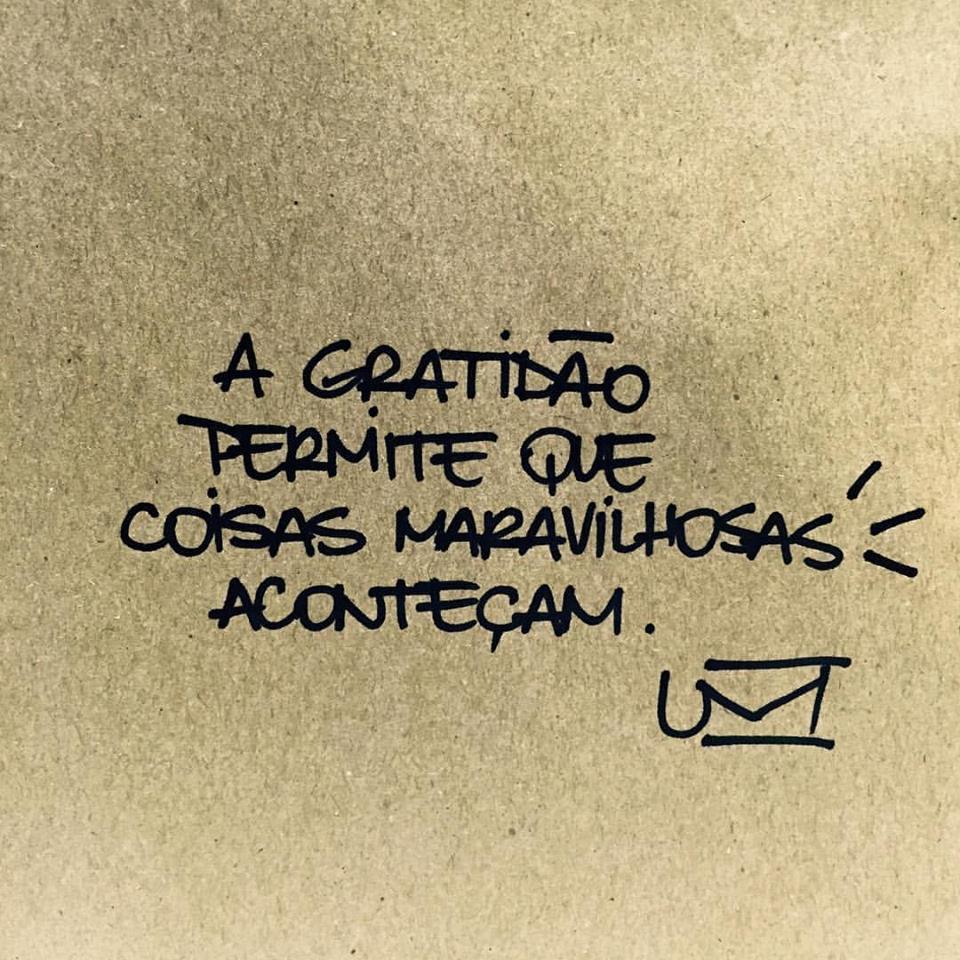 A gratidão permite
