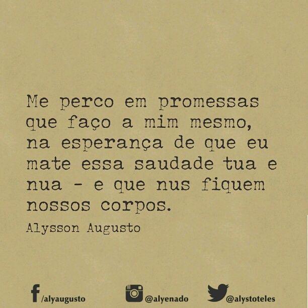 Me perco em promessas