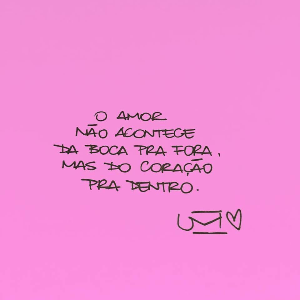 O amor não acontece