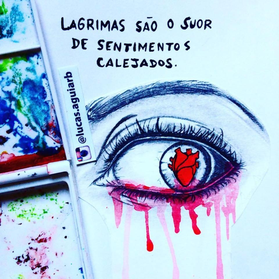 Lágrimas são o suor