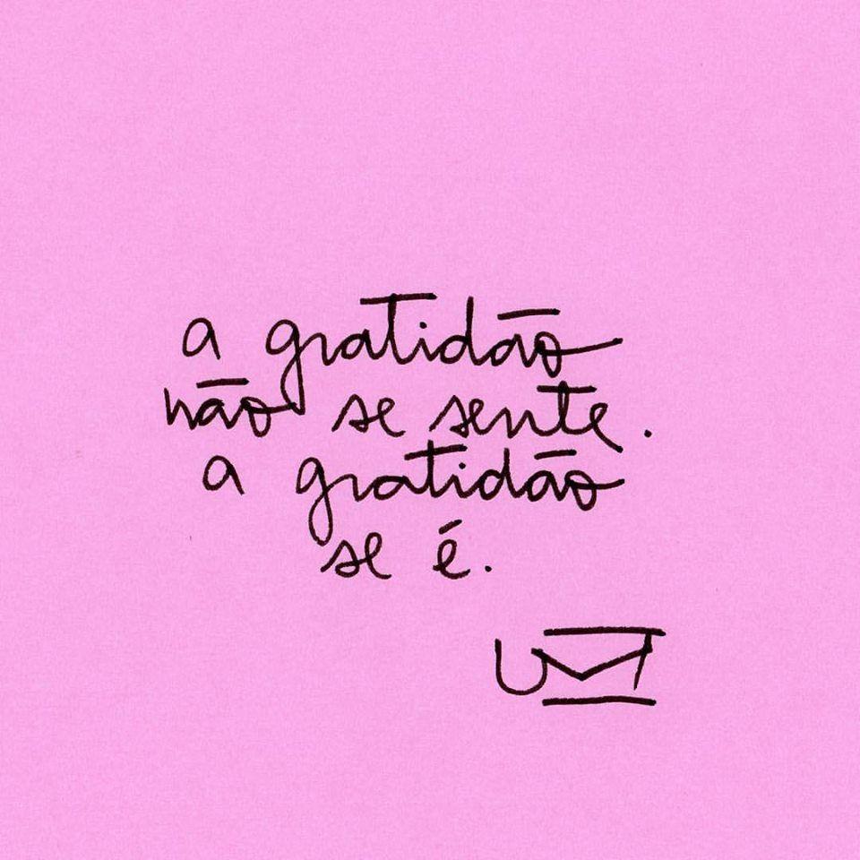A gratidão se é