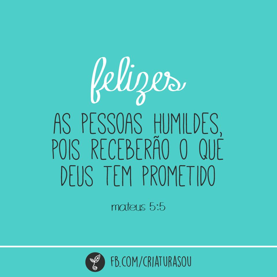 Felizes as pessoas humildes