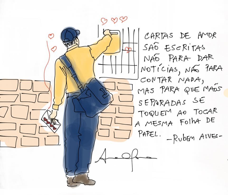 Cartas De Amor São Escritas Frase Para Facebook