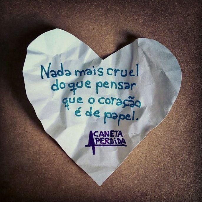 O coração é de papel