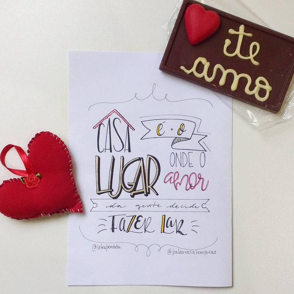 Casa é o lugar onde o amor