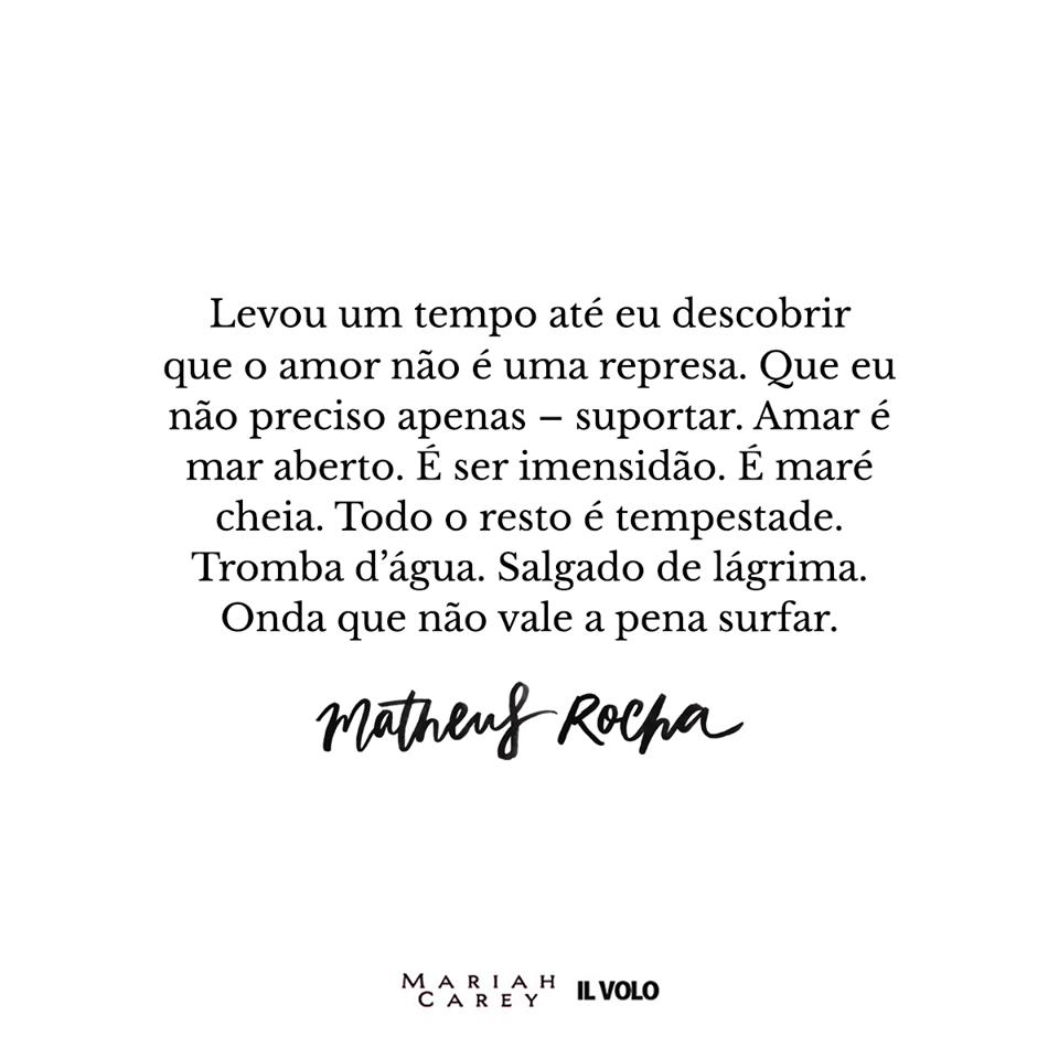 O amor não é uma represa