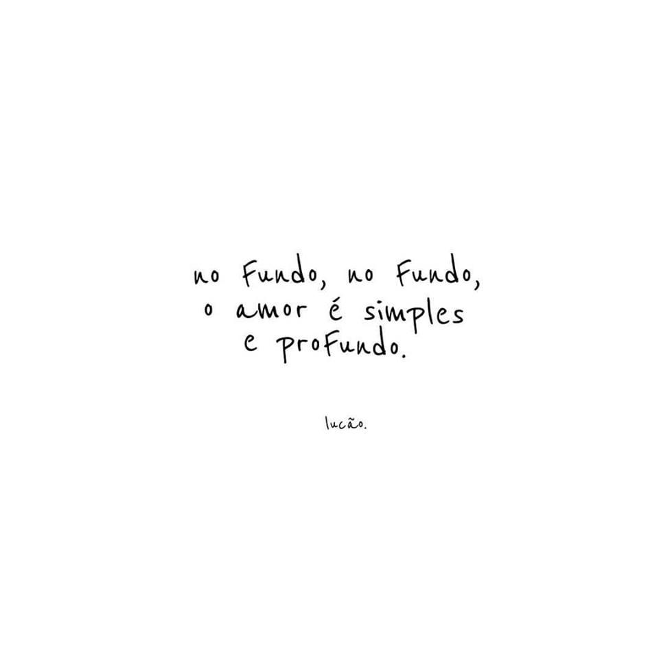 Simples e profundo