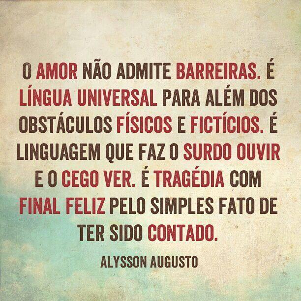 O amor não admite barreiras