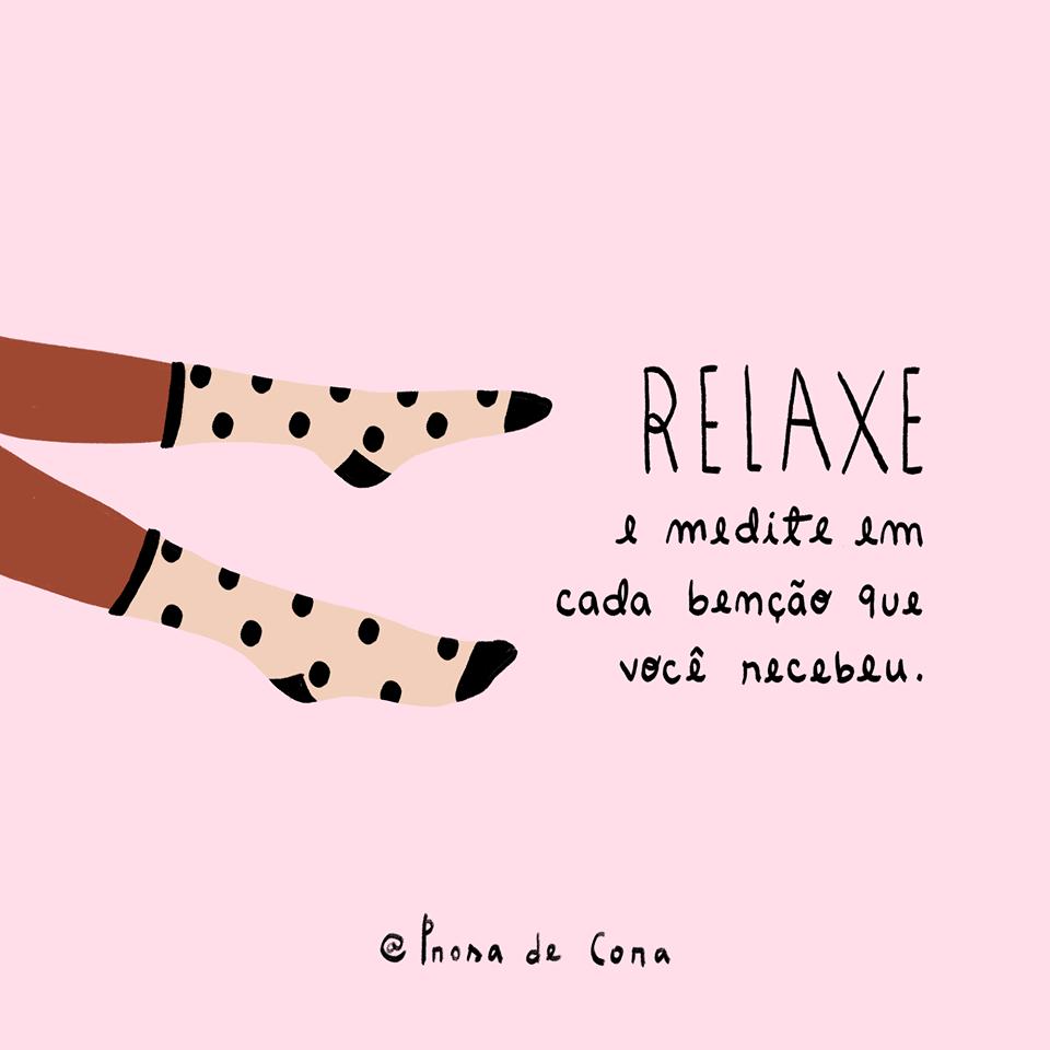 Relaxe e medite