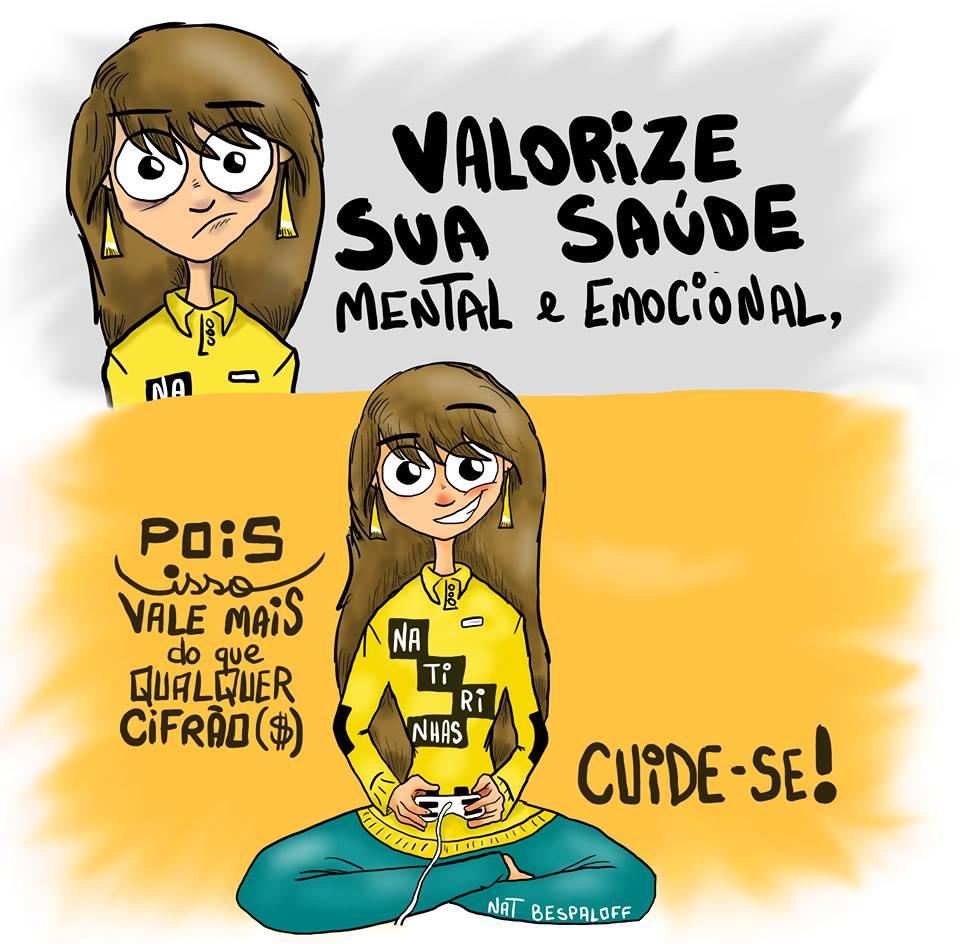 Muitas vezes Valorize sua saúde mental e emocional - Frase para Facebook TI42